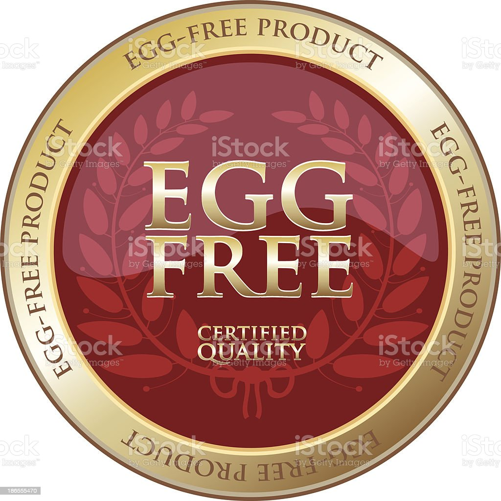 Egg Free Gold Product Label royalty-free stock vector art