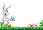 Egg Hunt Easter Bunny Rabbit Design