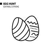 istock Egg Hunt Line Icon, Outline Vector Symbol Illustration. Pixel Perfect, Editable Stroke. 1191683668