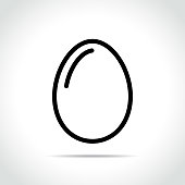 egg icon on white background