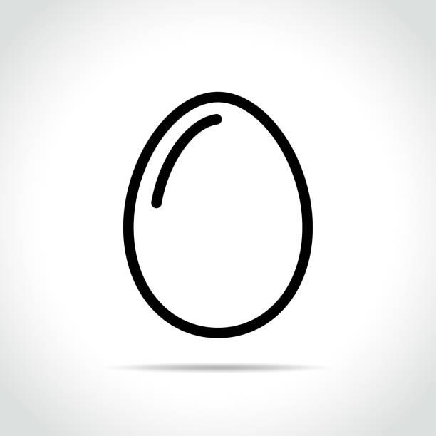 egg icon on white background Illustration of egg icon on white background egg stock illustrations