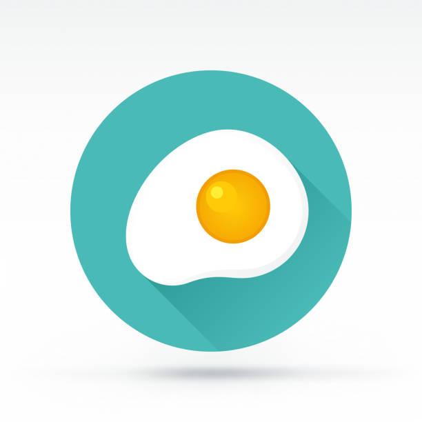 egg-symbol - spiegelei stock-grafiken, -clipart, -cartoons und -symbole