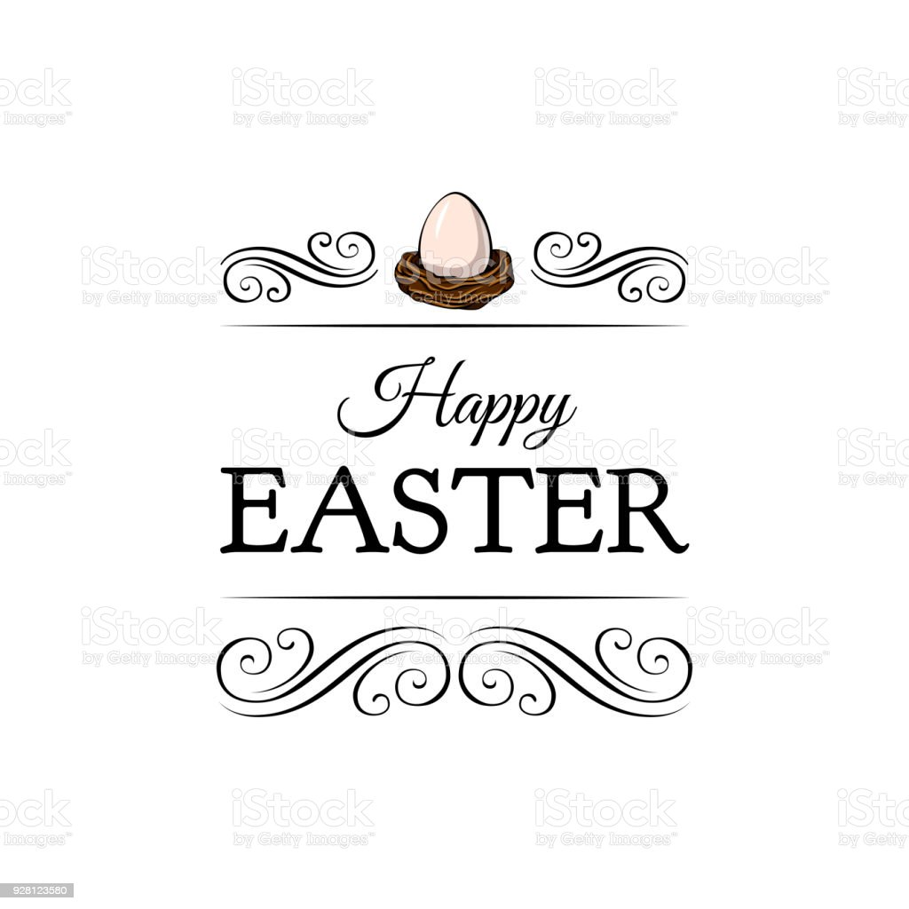 Egg in a nest easter christian symbol happy easter greeting card easter christian symbol happy easter greeting card vector illustration kristyandbryce Image collections