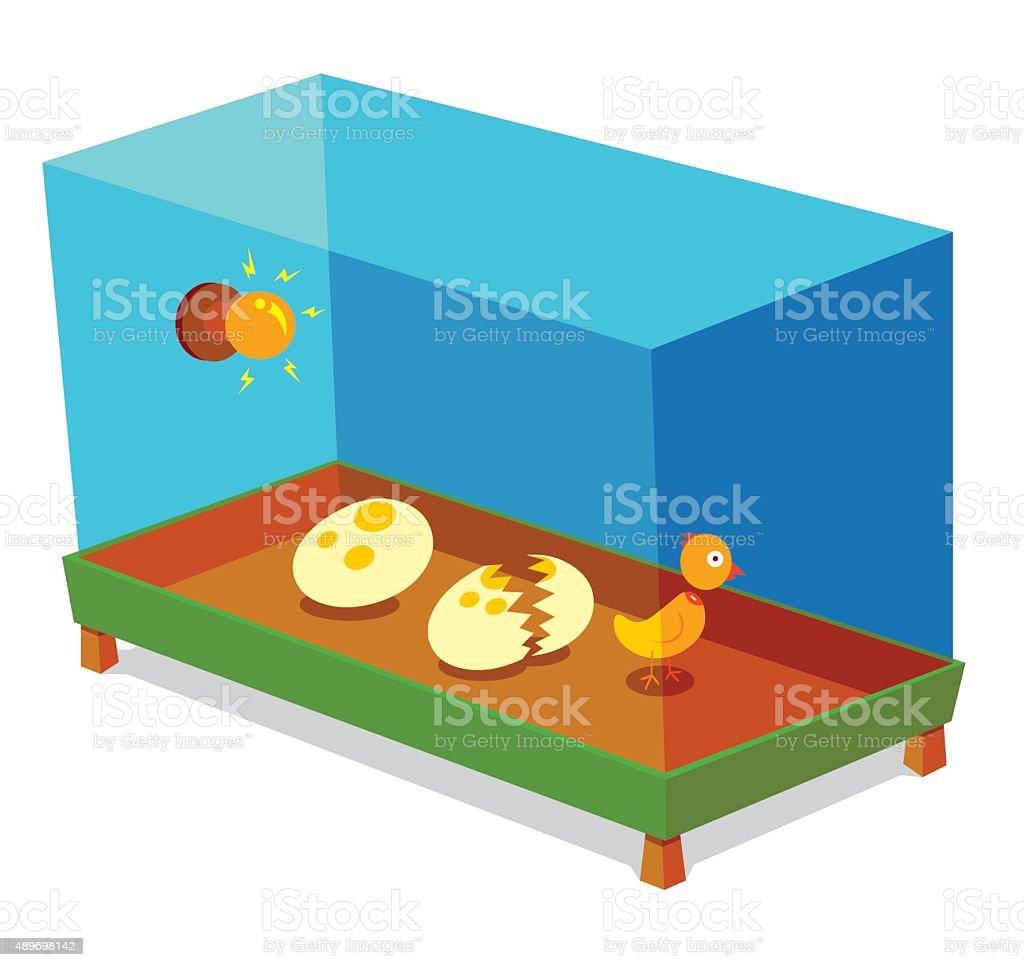 egg incubator vector art illustration