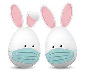 istock Egg shaped easter rabbits 1309912309