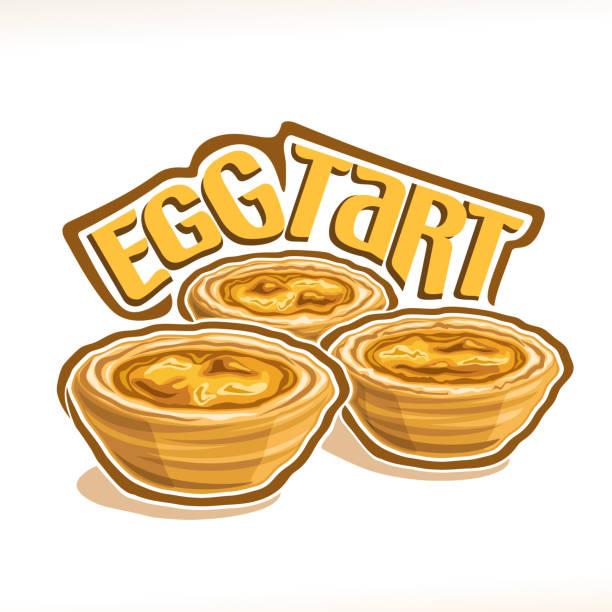 egg-tarte  - vanillesauce stock-grafiken, -clipart, -cartoons und -symbole