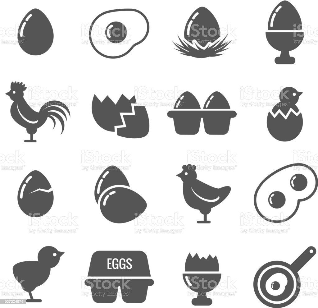Egg vector icons vector art illustration