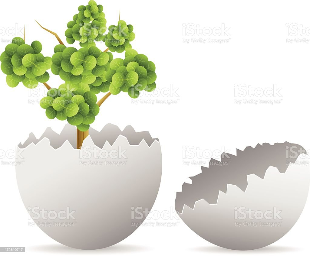 Egg with tree royalty-free stock vector art