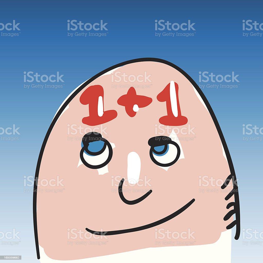egghead vector art illustration