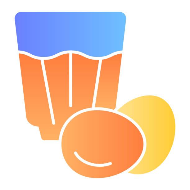 ilustraciones, imágenes clip art, dibujos animados e iconos de stock de icono plano eggnog. iconos de color de bebida de huevo en estilo plano de moda. diseño de estilo degradado de cóctel de huevo, diseñado para web y aplicación. - clavo especia