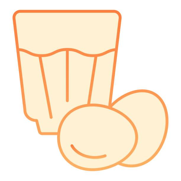 ilustraciones, imágenes clip art, dibujos animados e iconos de stock de icono plano eggnog. huevo beber iconos de naranja en estilo plano de moda. diseño de estilo degradado de cóctel de huevo, diseñado para web y aplicación. - clavo especia