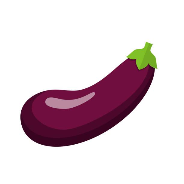 stockillustraties, clipart, cartoons en iconen met aubergine flat design - aubergine