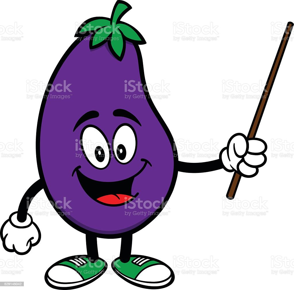 Eggplant with a Pointer vector art illustration