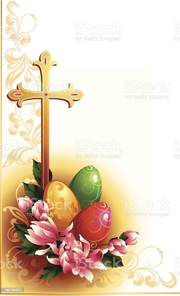 Eggs and flowers royalty-free stock vector art