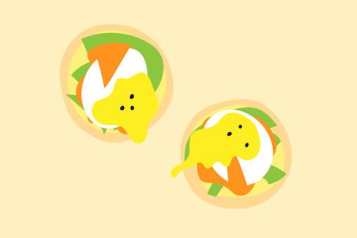 Eggs benedict illustration
