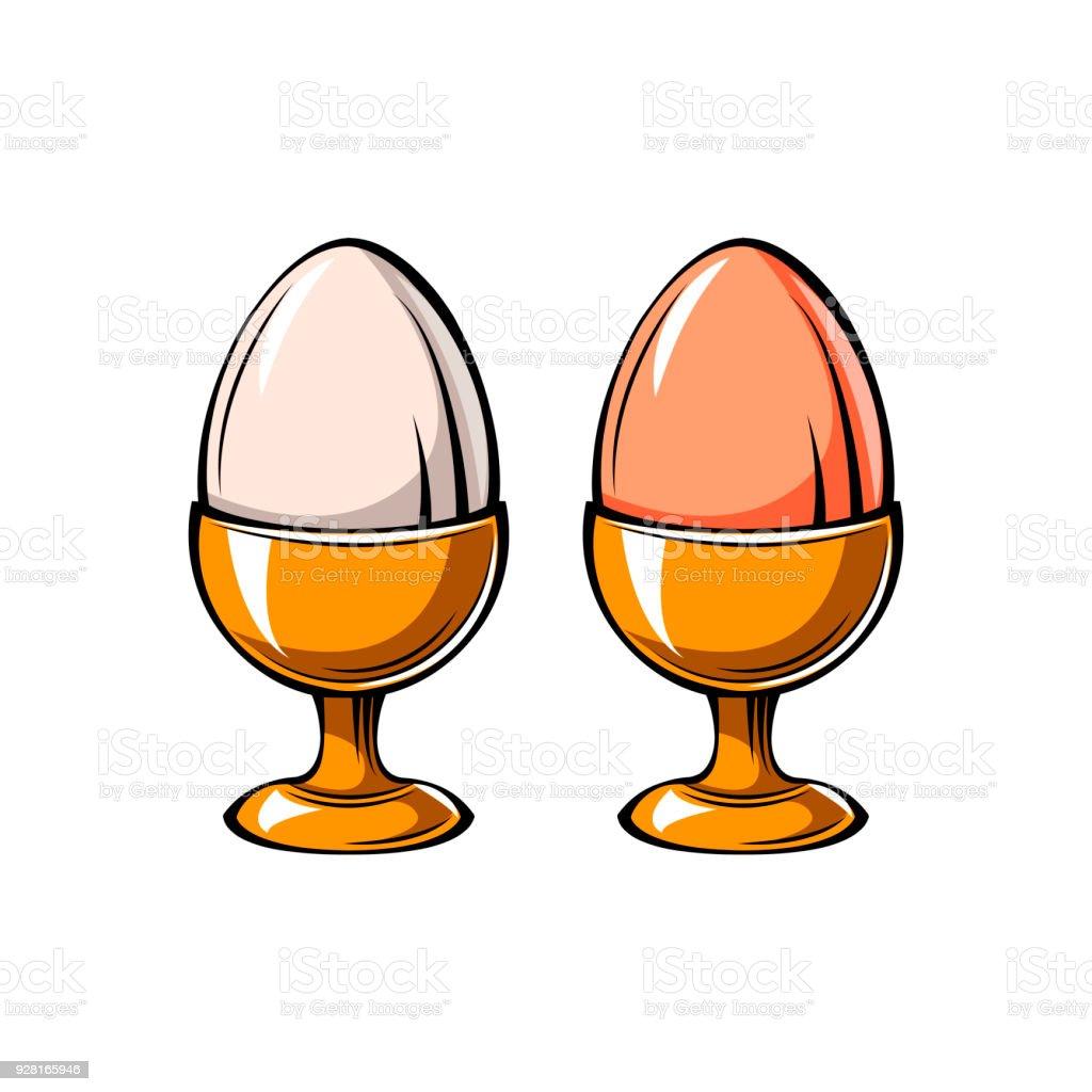 Eggs Holder icon. Eggs-cup. Vector illustration. vector art illustration