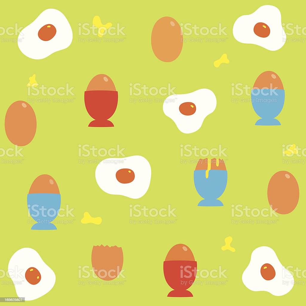 Eggs repeated vector art illustration