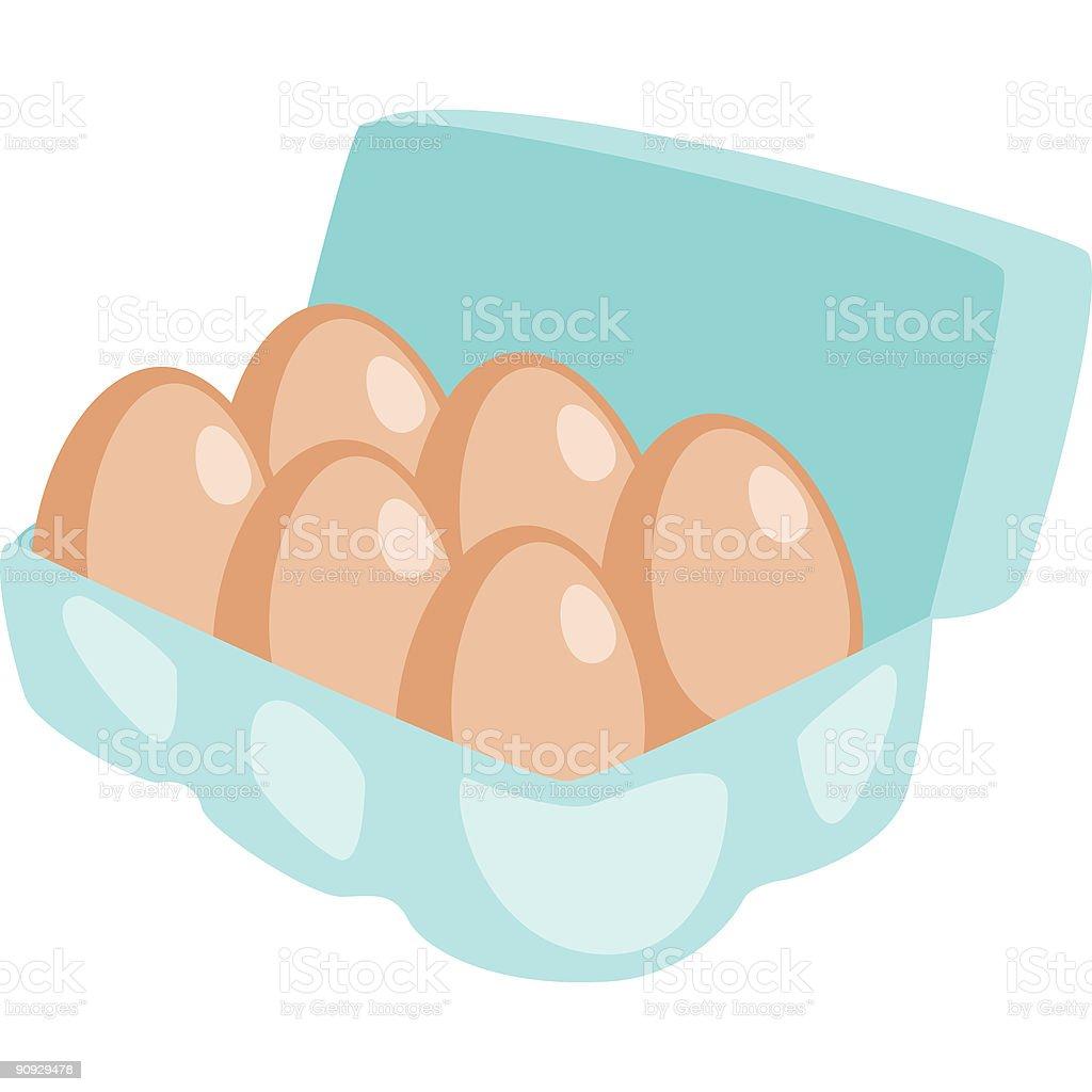 Eggs vector art illustration