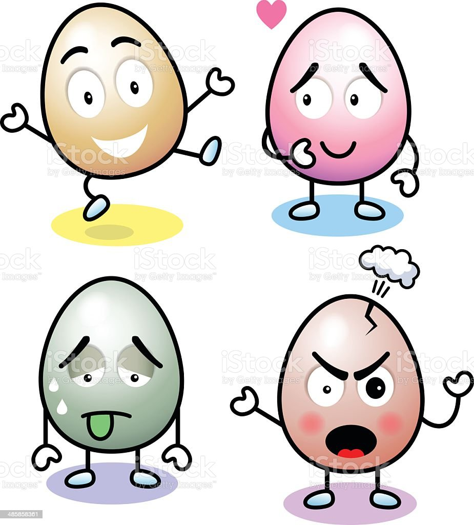 Eggs With Attitude vector art illustration