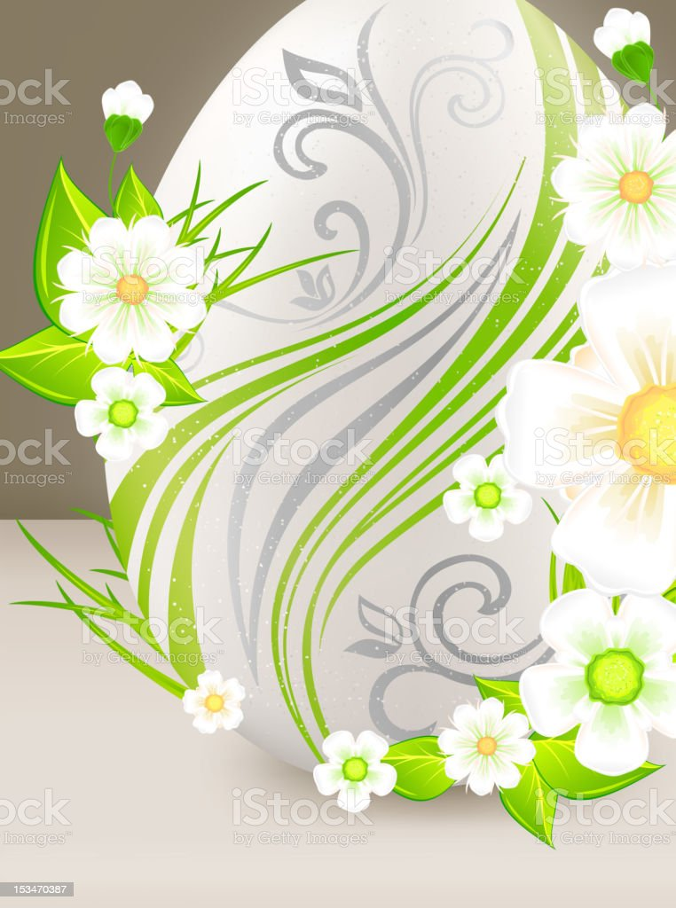 Eggs with flowers royalty-free eggs with flowers stock vector art & more images of animal egg