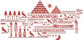 Egypt elements background.