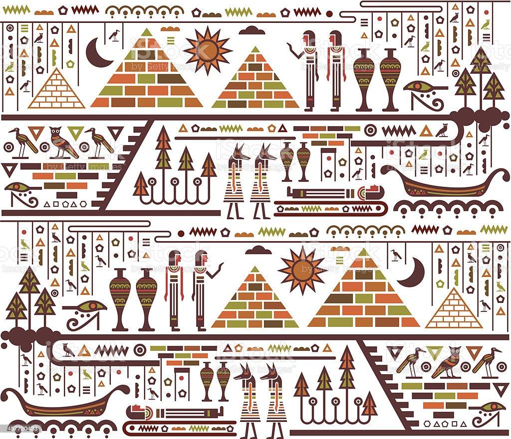 Egypt elements vector art illustration