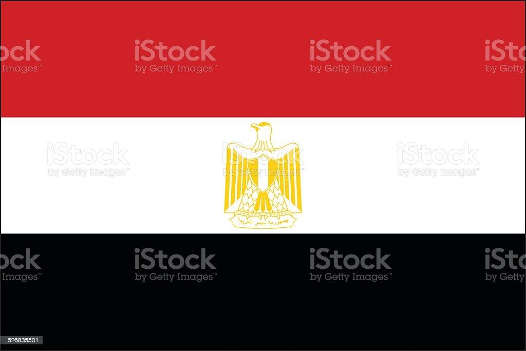 Egypt flag vector art illustration