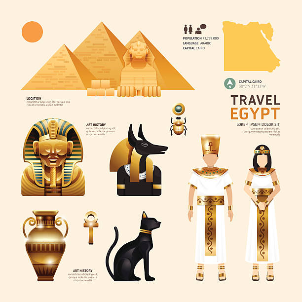 Egypt Flat Icons Design Travel Concept.Vector Egypt Flat Icons Design Travel Concept.Vector egypt stock illustrations