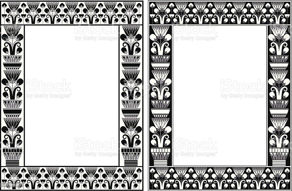 Egypt Frame royalty-free stock vector art