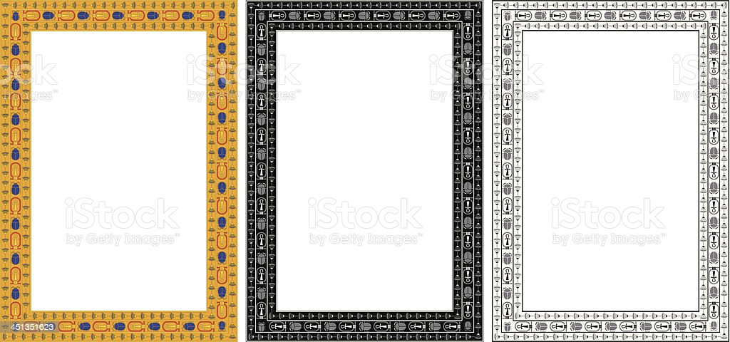 Egypt Frame vector art illustration