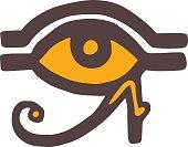 Egypt God Ra vector symbol hand drawn set