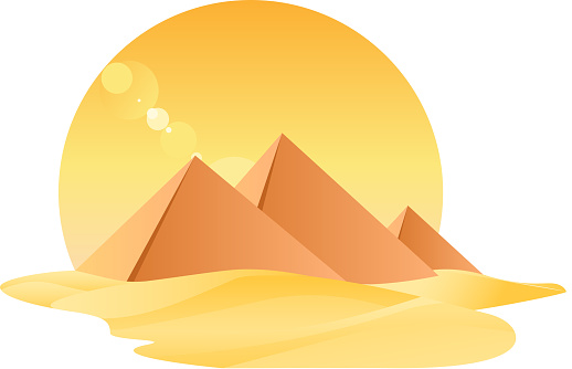 Egypt Great Pyramids Egyptology With Sand and Sun