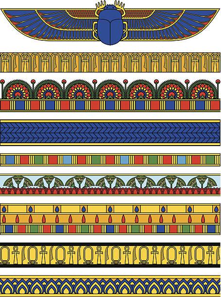 Egypt Horizontal Banners vector art illustration