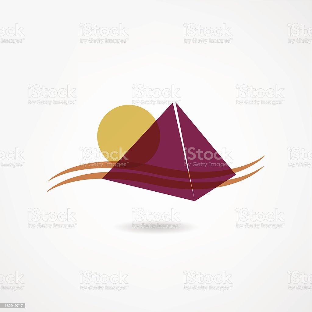 Egypt icon vector art illustration