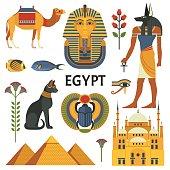 Egypt icons set.
