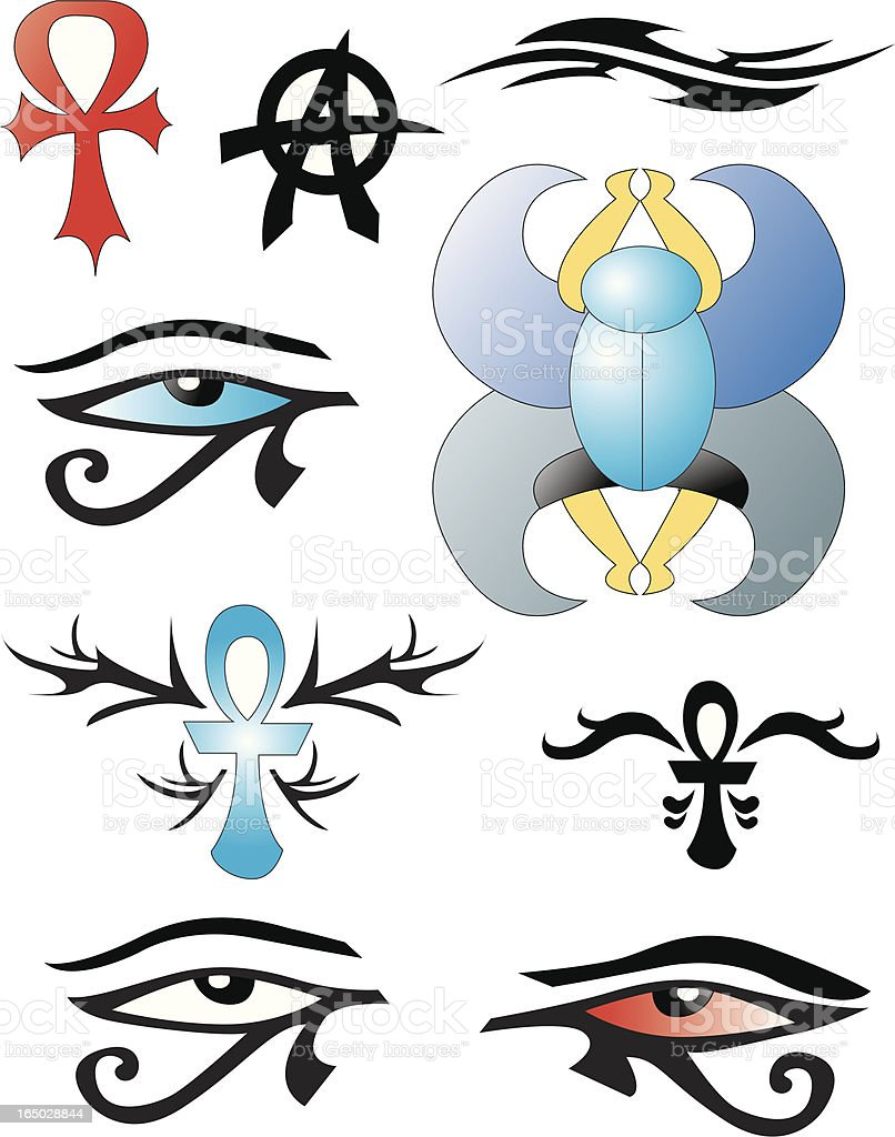 Egypt icons royalty-free stock vector art
