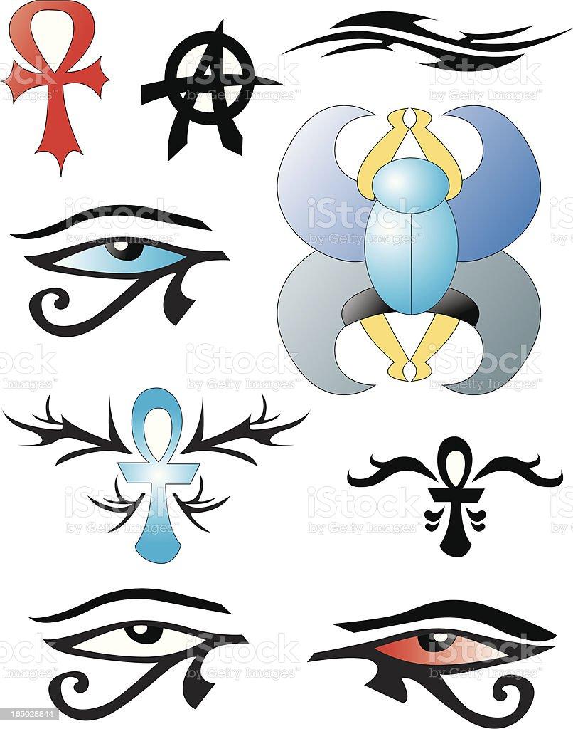 Egypt icons vector art illustration