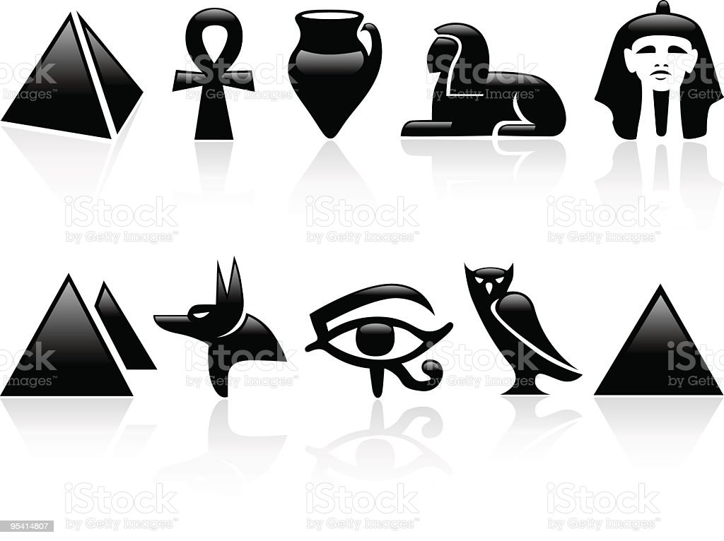 Egypt icons vector art illustration