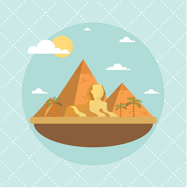 Egypt landmarks and travel place.Vector illustration Egypt landmarks and travel place.Vector illustration eps.10 egypt stock illustrations