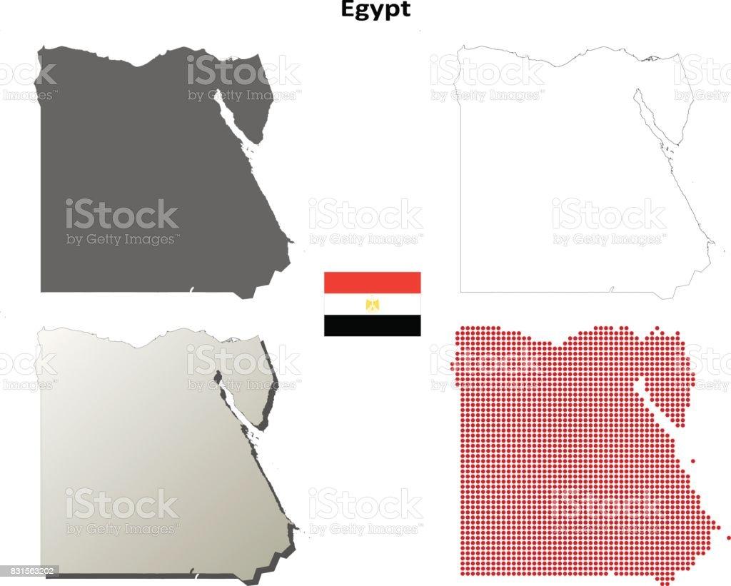 id kaart egypte Egypte Overzicht Kaart Set Stockvectorkunst en meer beelden van