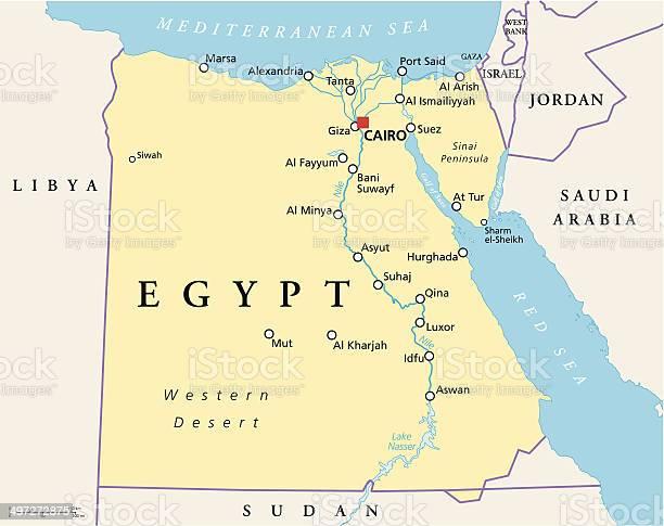 Cartina Egitto In Italiano.Egitto Mappa Politica Immagini Vettoriali Stock E Altre Immagini Di Africa Istock