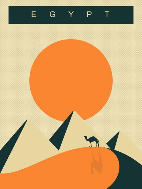 egypt poster - africa travel stock illustrations, clip art, cartoons, & icons