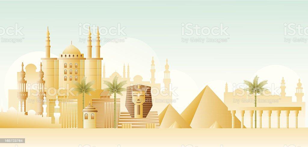 Egypt scenery vector art illustration