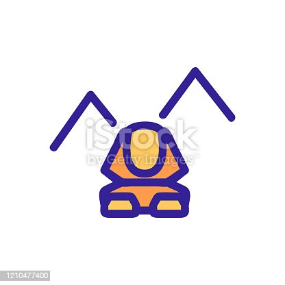 Egypt sphinx icon vector. Thin line sign. Isolated contour symbol illustration