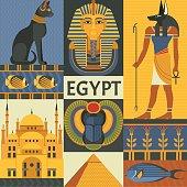 Egypt travel poster concept.