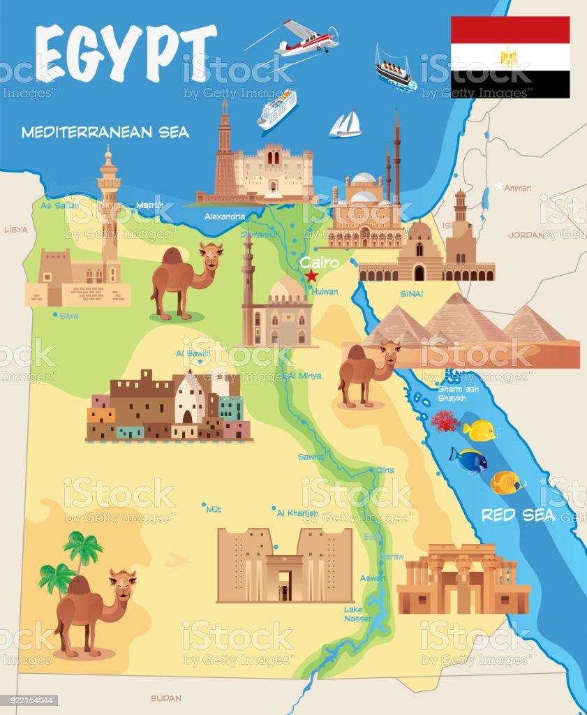 Egito - ilustração de arte em vetor