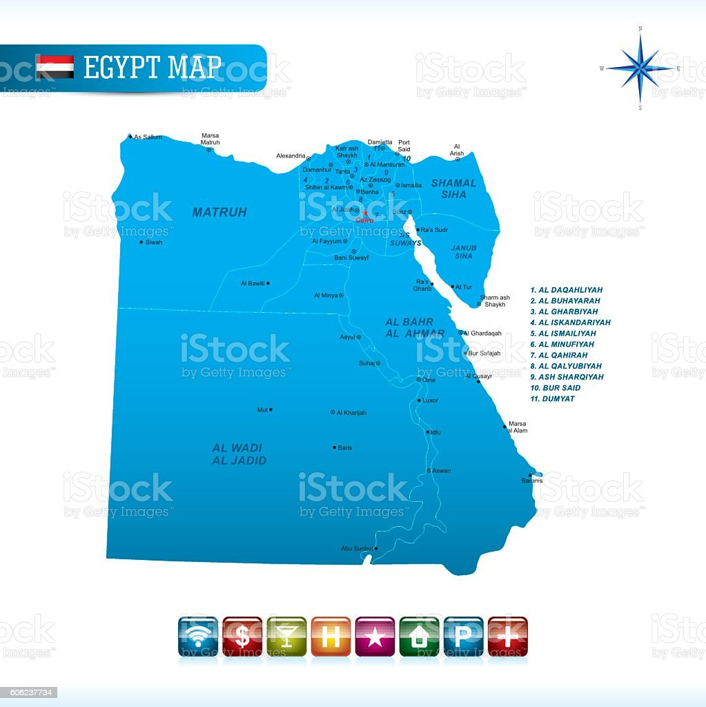 Egypt Vector Map stock vector art 606237734 iStock