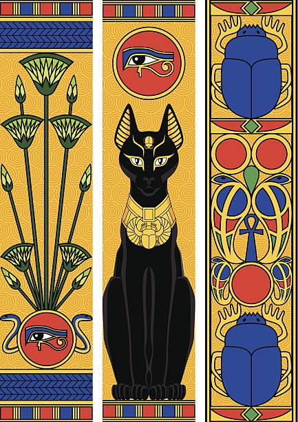 Egypt Vertical Banners vector art illustration