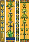 Egyptian vertical banners with papyruses.
