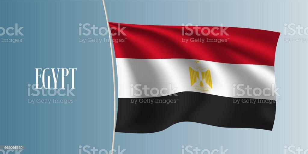 Egypt waving flag vector illustration egypt waving flag vector illustration - stockowe grafiki wektorowe i więcej obrazów abstrakcja royalty-free